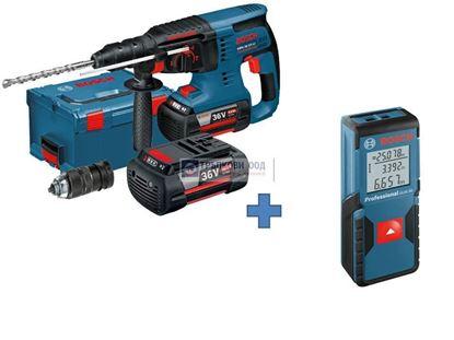 Снимка на Акумулаторен перфоратор GBH 36 VF-LI Plus Professional+Лазерна ролетка BOSCH GLM 30