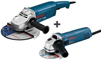 Снимка на Комплект ъглошлайфи BOSCH GWS 20-230 H Professional + GWS 850 C Professional (125mm)