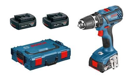 Снимка на Акумулаторен ударно-пробивен винтоверт GSB 14,4-2-LI PLUS Professional (3 батерии х 1,5Ah )
