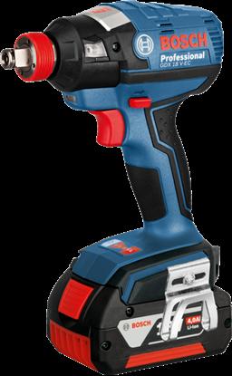 Снимка на Акумулаторен ударен гайковерт Bosch GDX 18 V-EC Professional,2x4.0Ah ,L-BOXX