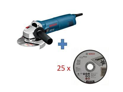 Снимка на Ъглошлайф Bosch GWS 1000 Professional+ 25бр. Диск за рязане - Rapido Standard Inox 125 mm, 22,23 mm, 1 mm