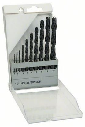 Снимка на 10 части свредла за метал HSS-R, DIN 338