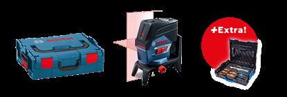 Снимка на GCL 2-50 C комбиниран лазер + RM 2 + Чантичка за съхранение + Мишена + 12 V Батерия + Зарядно устройство + BM 3 в L-boxx++ Бонус комплект Gedore