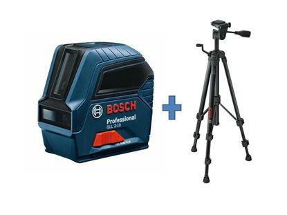Снимка на Лазерен нивелир BOSCH GLL 2-10+Строителен статив Bosch BT 150 Professional