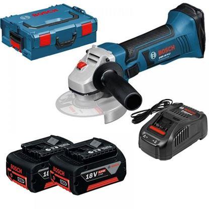 Снимка на Акумулаторен ъглошлайф GWS 18-125 V-LI Professional, 2х5,0Аh L-Boxx