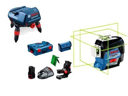 Снимка на НОВО! GLL 3-80 CG линеен лазер ак.батерия GBA 12V 2.0 Ah + BM 1 + L-Boxx +RM 3 Моторизиран универсален държач