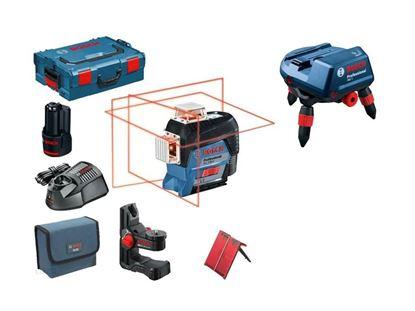 Снимка на НОВО! GLL 3-80 C линеен лазер,ак.батерия GBA 12V 2.0 Ah,L-BOXX + + Моторизиран Универсален държач RM3