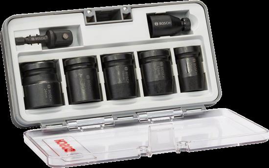 """Снимка на Комплект вложки за глух ключ, 7 части;1/2"""";SW13; SW17; SW19; SW21; SW24; 40 mm; 2 адаптера;2608551029"""