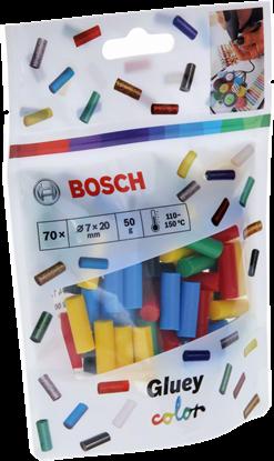 Снимка на Gluey лепилни пръчки, цветен микс 70бр.;2608002005
