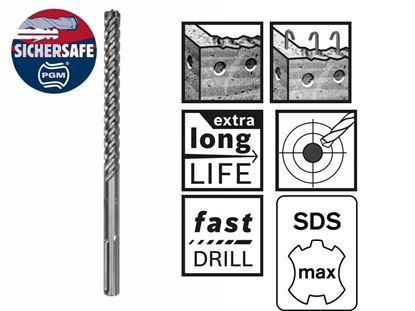 Снимка на Свредло Bosch с цяла карбидна глава за армиран бетон SDS-max-8X 12 x 600 x 740 mm;2608578604