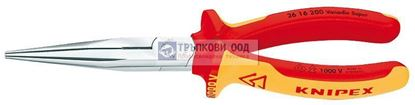 Снимка на Клещи с издължени челюсти и режещ ръб KNIPEX 200 VDE;2616200