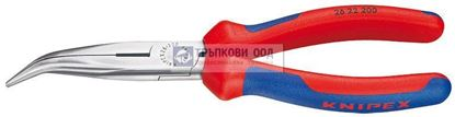 Снимка на Клещи с издължени челюсти и режещ ръб криви KNIPEX 200;2622200