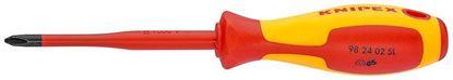 Снимка на Отвертка (тънка) за напречни винтове Knipex,100mm PH2;982402SL