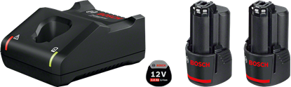 Снимка на Стартов комплект 2 x GBA 12V 2.0Ah + бързо зарядно у-во GAL 12V-40;1600A019R8