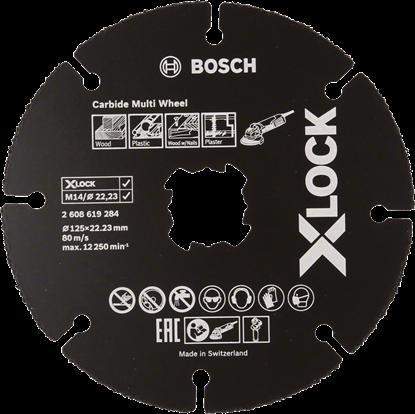 Снимка на X-LOCK Диск Ъглошлайф за Дърво и Пластмаса 125mm;2608619284