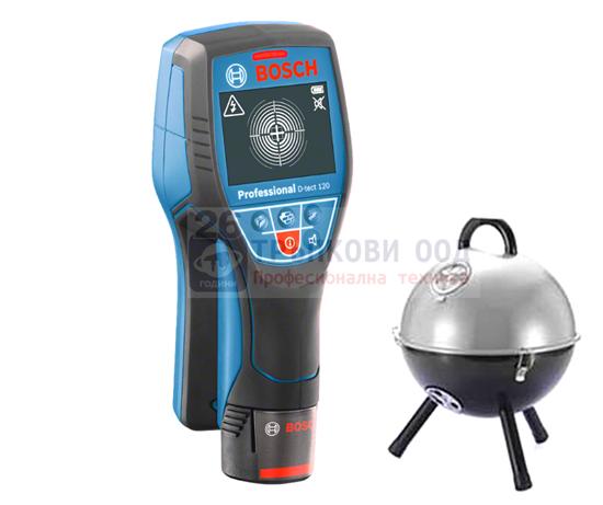 Снимка на Детектор Bosch Скенер за стени D-tect 120 Professional+ Подрък Преносимо Барбекю