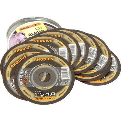 Снимка на XT70 Карбофлексов диск Rhodius 115 х 1.0 х 22.23;207436