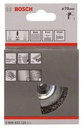 Снимка на 6mm Дискова четка , 70mm, вълнообразна, 0.3mm INOX,2608622121