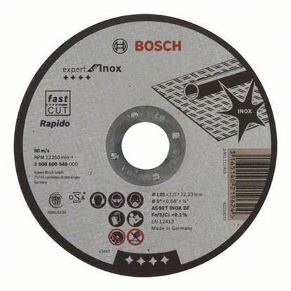 Снимка на Диск за рязане - Rapido Standard, AS 60 T INOX BF, 125 mm, 22,23 mm, 1 mm,2608600549