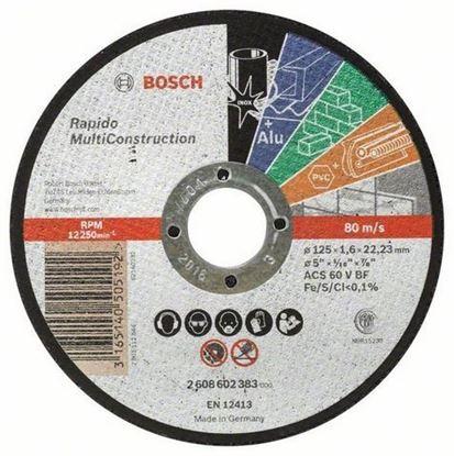 Снимка на Диск за рязане, 125 mm, 22,23 mm, 1,6 mm,2608602383