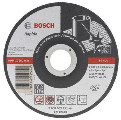 Снимка на Диск за рязане, A 60 W BF 41, 125 mm, 22,23 mm, 1,0 mm,2608602221