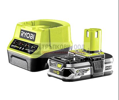 Снимка на Акумулаторен сет RYOBI RC18120-125 Li-Ion battery ONE+ 2.5Ah + ЗАРЯДНО,5133003359