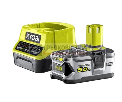 Снимка на Акумулаторен сет RYOBI RC18120-150 Li-Ion battery ONE+ 5.0Ah + ЗАРЯДНО,5133003366