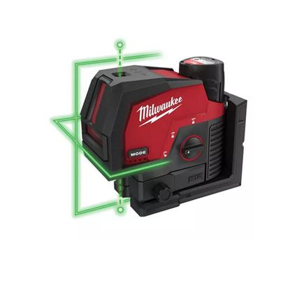 Снимка на Лазерен нивелир с отвесни точки 3.0Ah Milwaukee M12CLLP-301C M12 CROSSLINE ,C12C зарядно,4933478100