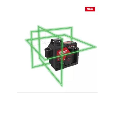 Снимка на НОВО!Акумулаторен лазерен нивелир Milwaukee M12™ зелен лъч 360°,M123PL-401C,3 равнини,4933478102
