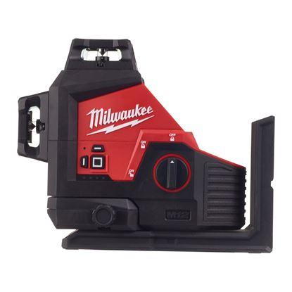 Снимка на НОВО!Акумулаторен лазерен нивелир Milwaukee M12™ зелен лъч 360°,M123PL-0C,3 равнини,4933478103